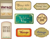 Set vintage labels. Vector. A abstract illustration — Stock Vector