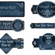 Royalty-Free Stock Imagem Vetorial: A decorative ornate with silver frames.