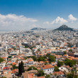 Athens and Lykavitos Hill - Stock Photo