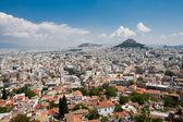 Athens and Lykavitos Hill — Stock Photo