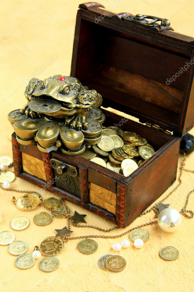 Money chest  Stock Photo #3874195