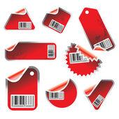 Vector stickers — Stock Vector