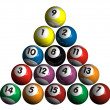 Pool balls — Stock Photo #3843767