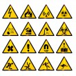 Stock Vector: Warning signs (vector)