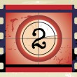 Stock Vector: Film Countdown (vector)