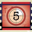 Film Countdown (vector) — Stock Vector