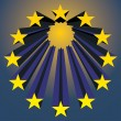 European unions stars — Stock Vector