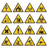 Warning signs (vector) — 图库矢量图片