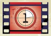 Film Countdown (vector) — Stock Vector