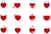Sample heart zodiac icons — Stock Vector