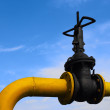 Valve on the gas pipe — Stock Photo #3685051