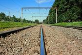 Iron railroad rail — Stock Photo
