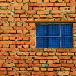 Window from blue glass blocks — Stock Photo #3787494