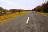 農村部の道路アスファルトで覆われています。 — ストック写真