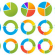 Pfeil-Kreise — Stockvektor