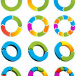 Arrow circles — Vector de stock #3756988