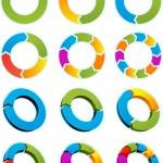 Arrow circles — Stock Vector