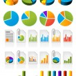 Pie charts — Stockvectorbeeld