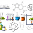 Science and Chemistry Icons - Imagens vectoriais em stock