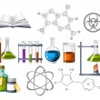 Science and Chemistry Icons — Imagen vectorial