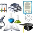 Science and education icons — Stock Vector