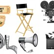 Royalty-Free Stock Vector Image: Film Industry attributes
