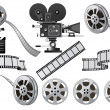 Film Industry - Vettoriali Stock 
