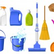 Cleaning icons — Stockvectorbeeld