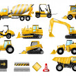 Construction icon set - Stok Vektr