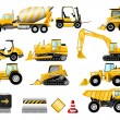 Construction icon set - Stok Vektör