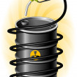 Black Oil Drum and Fuel Pump with hose — Image vectorielle