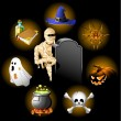Halloween icons set — Stock Vector