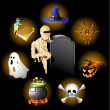Royalty-Free Stock Imagen vectorial: Halloween icons set