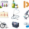 Stock Vector: Medicine and Healthcare icons