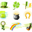 St. Patrick's Day icon set — Imagen vectorial