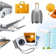 Transport and Travel icons - Stock Vector