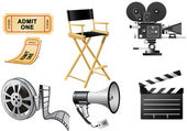 Film Industry attributes — Stock Vector