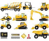 Costruzione di set di icone — Vettoriale Stock