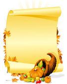 Blank thanksgiving banquet invitation — Stock Vector