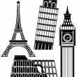 Sights of the world series - Europe — Imagen vectorial