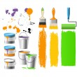 Buckets with paint — Stock Vector