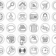 Web site and Internet icon set - Stok Vektör
