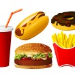 Fast food icon set — Stock Vector #3761739