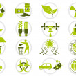 Energy saving and environmental protection icon set - Stock Vector