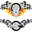 图库矢量图片: Sports Race Emblems - second set