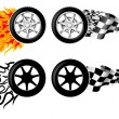 Stock Vector: Sports Race Emblems - third set