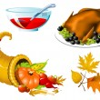 Royalty-Free Stock Imagem Vetorial: Thanksgiving Symbols