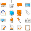 Royalty-Free Stock Vector: Web page or office theme icon set