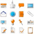 Webseite oder Office-Thema-Icon-set — Vektorgrafik