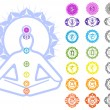Chakras symbols - Stock Vector